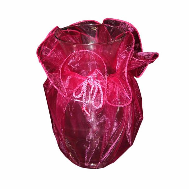 """28"""" Fuchsia Organza Wrapper"""