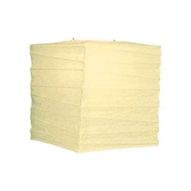 "12"" Ivory Square Paper Lantern"