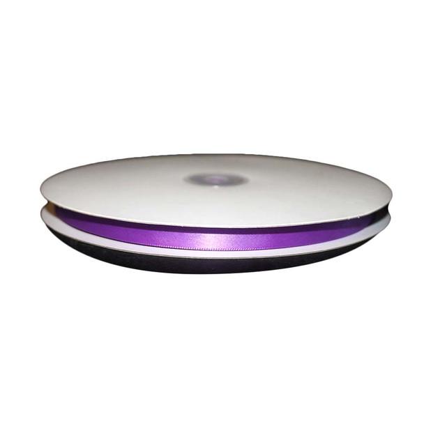 """3/8"""" Purple Single Face Satin Ribbon"""