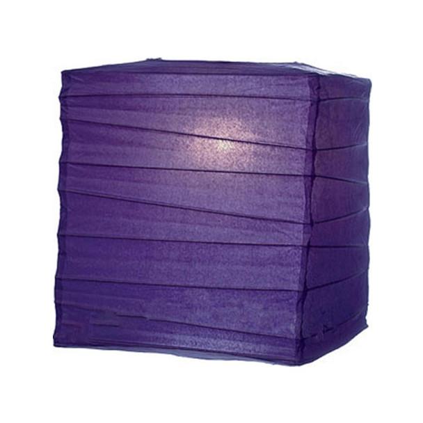 "12"" Purple Square Paper Lantern"