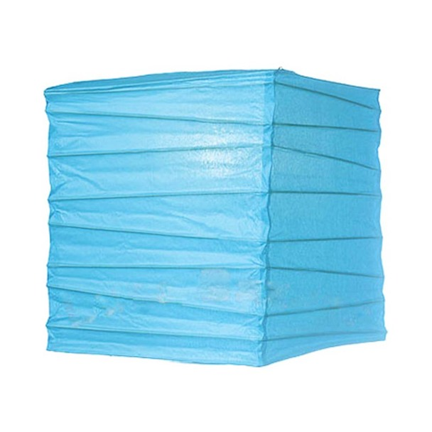 "12"" Turquoise Square Paper Lantern"
