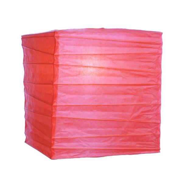 """12"""" Fuchsia Square Paper Lantern"""