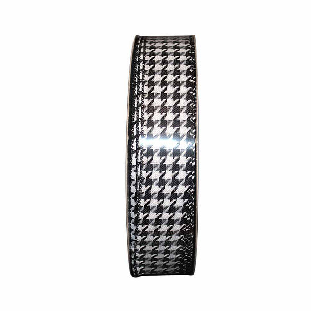 """1.5"""" Textured Houndstooth Ribbon"""