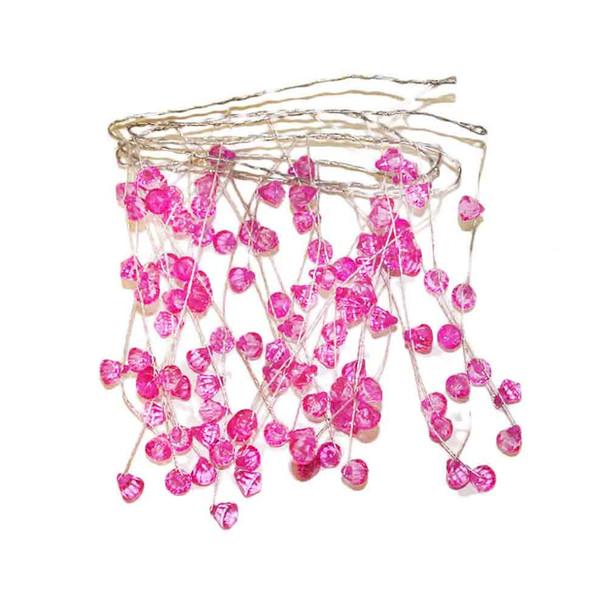 "40"" Pink Crystal Garland"