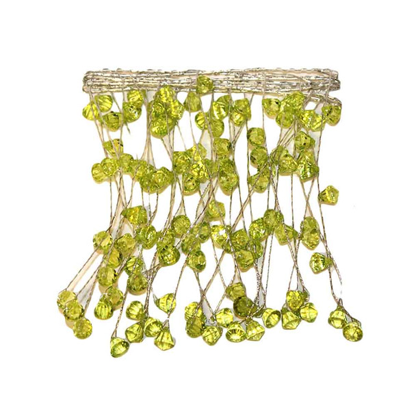 "40"" Apple Green Crystal Garland"