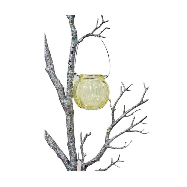 """3"""" Yellow Hanging Cup Candle Holder"""