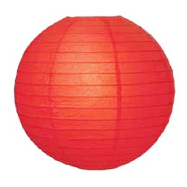 """12"""" Red Round Paper Lantern"""