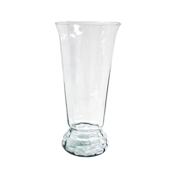 """14""""H Clear Greco Glass Vase"""