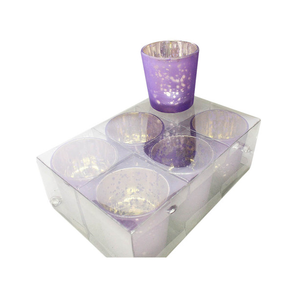 "2 .5""  Purple Mercury Glass Votive Candle Holder"
