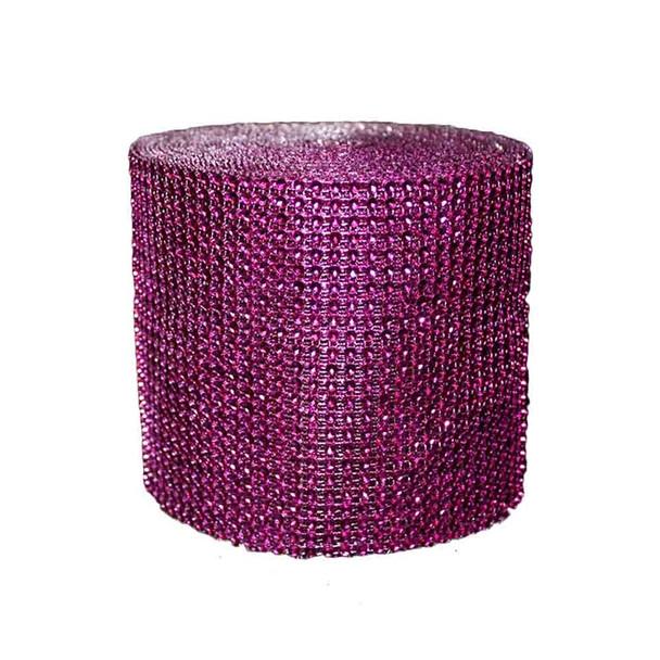 """5"""" x 10Yd Fuchsia Diamond Roll"""