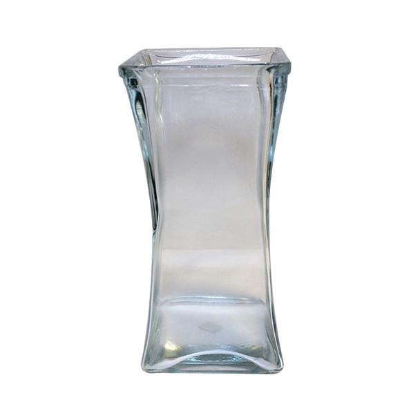 """9""""H Taper Glass Square Vase"""