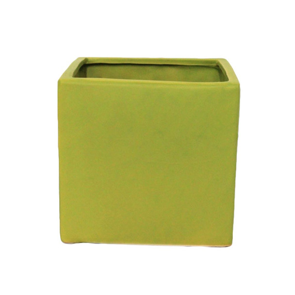 "8"" Green Ceramic Cube"