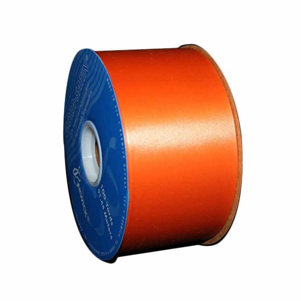 """2 3/4"""" Orange Flora-Satin Ribbon"""