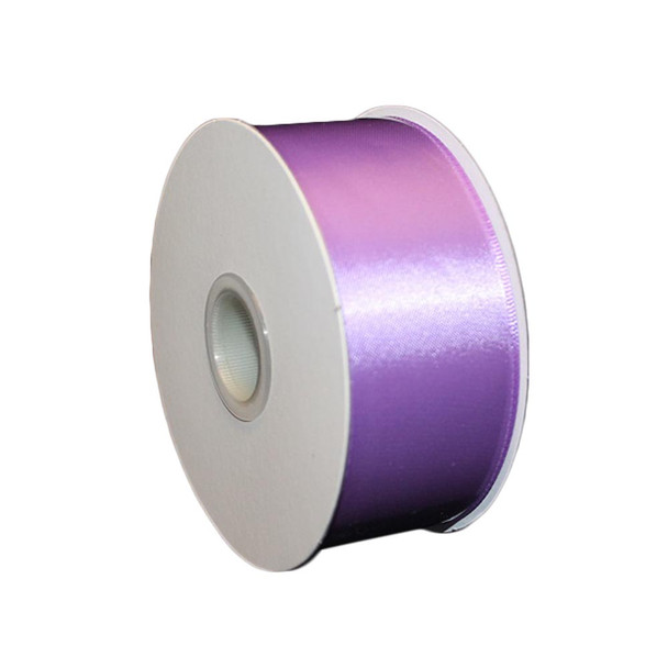 """1.5"""" x 25 Yd Lavender Double Faced Satin Ribbon"""