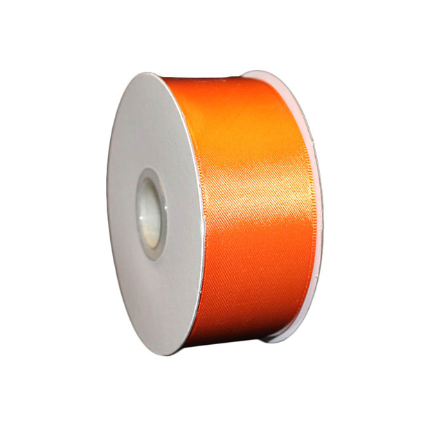 "1.5"" Orange Double Face Satin Ribbon"