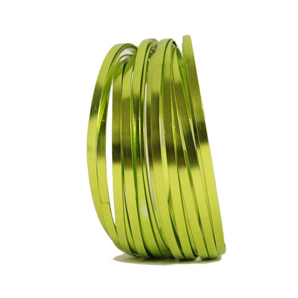 5 MM Gauge Apple Green Flat Decorative Wire 29.5 Ft
