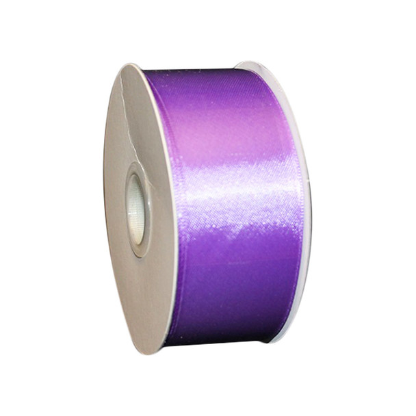 "1.5"" Purple Double Face Satin Ribbon"