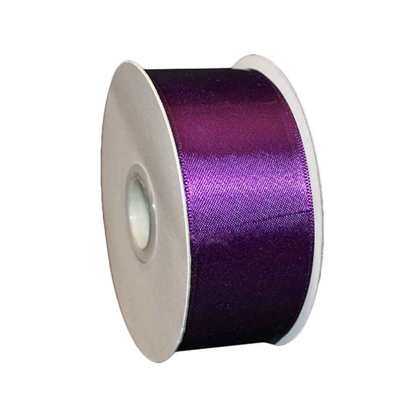 "1.5"" Plum Double Face Satin Ribbon"