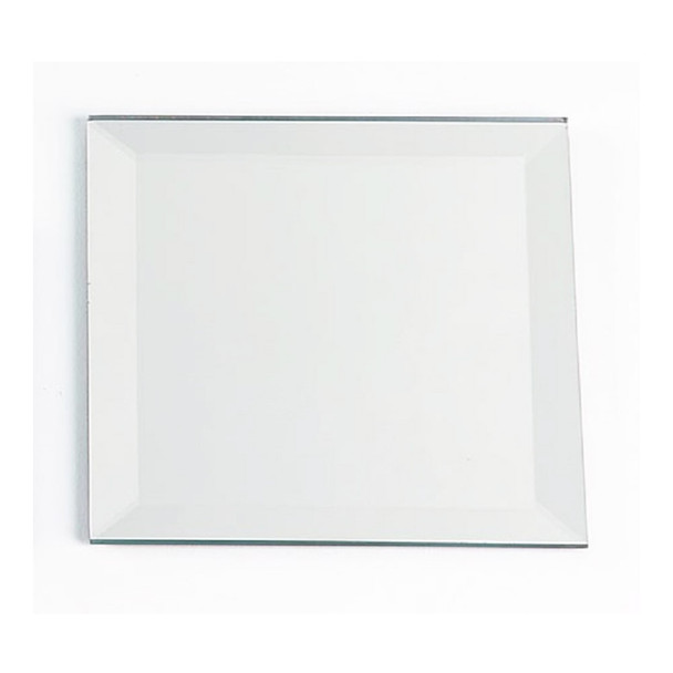 "12"" Square Beveled Mirror Plate"