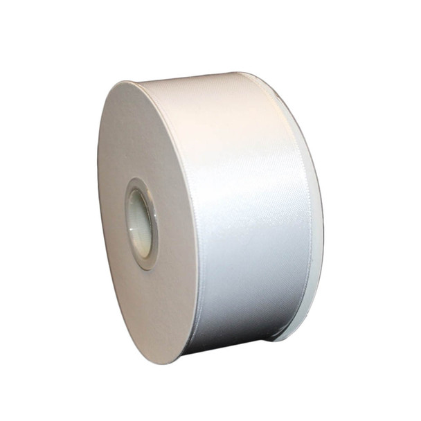 "1.5"" White Double Face Satin Ribbon"