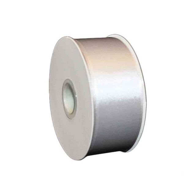 "1.5"" Silver Double Face Satin Ribbon"