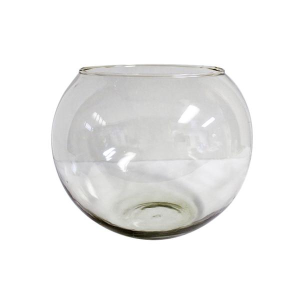"10"" Fish Bowl Glass Vase"