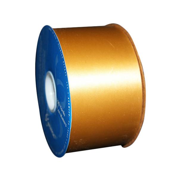 "2 3/4"" Gold Flora-Satin Ribbon"