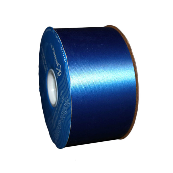 "2 3/4"" Royal Blue Flora-Satin Ribbon"