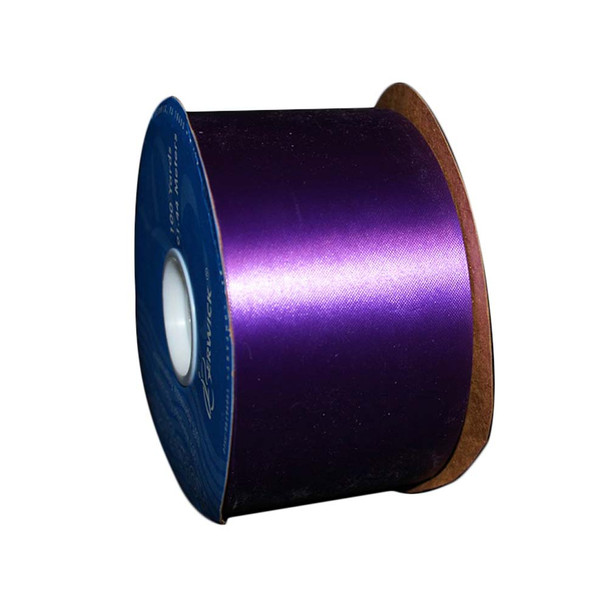"2 3/4"" Purple Flora-Satin Ribbon"