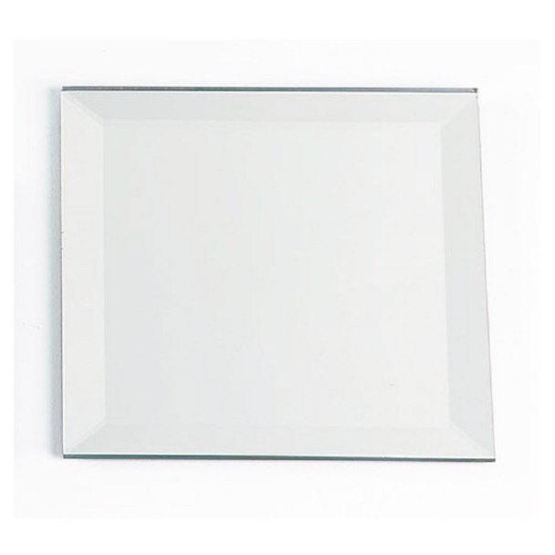 "14"" Square Beveled Mirror Plate"