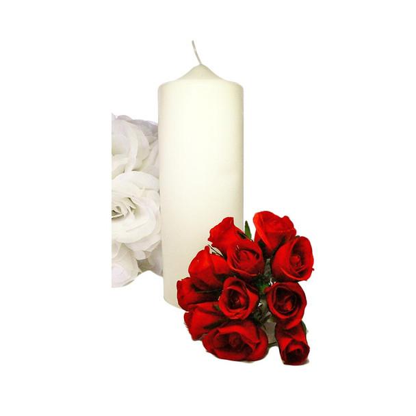 "3"" x 8"" Ivory Pillar Candle"