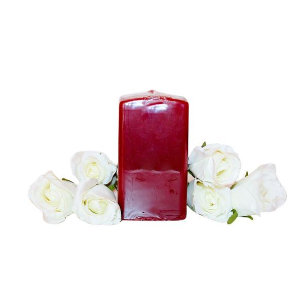 "2.75""X5"" Pomegranate Square Pillar Candle"