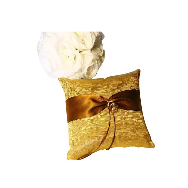 Gold Ring Bearer Pillow