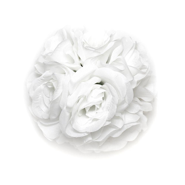 "7"" White Flower Ball"
