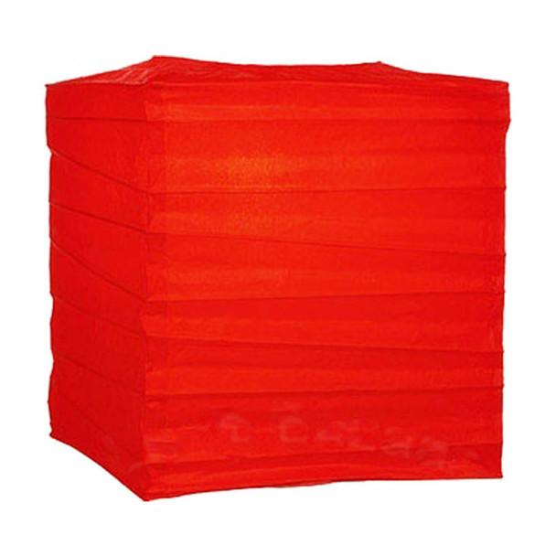 """10"""" Red Rectangular Paper Lantern"""