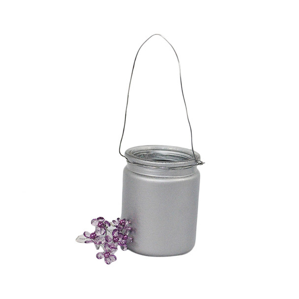 """4""""  Silver Hanging Cup Candle Holder"""