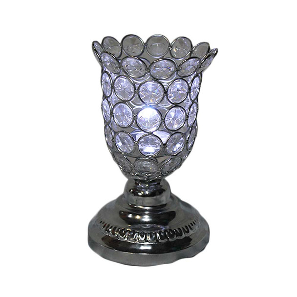 "7.3"" Beaded Candle Holder"