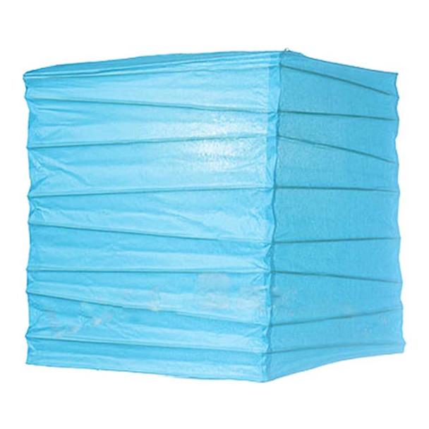 """10"""" Turquoise Rectangular Paper Lantern"""