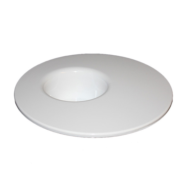 """4.5""""   White Round Mesa"""