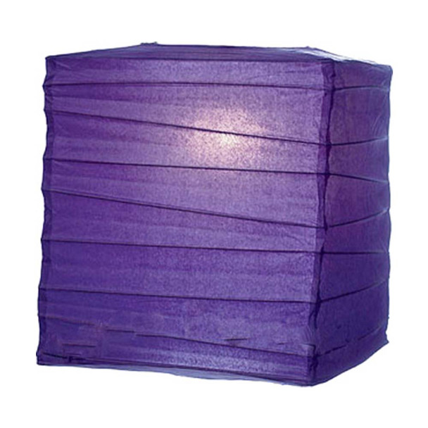 "10"" Purple Rectangular Paper Lantern"