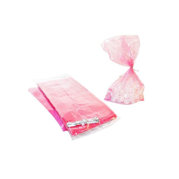 Fuchsia Cellophane Candy Bag