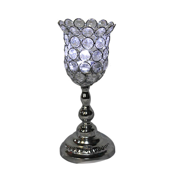 "10.6"" Beaded Candle Holder"