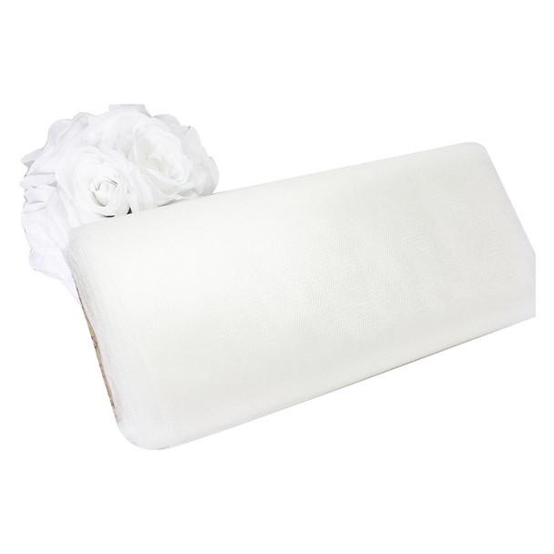 """54"""" White Tulle"""