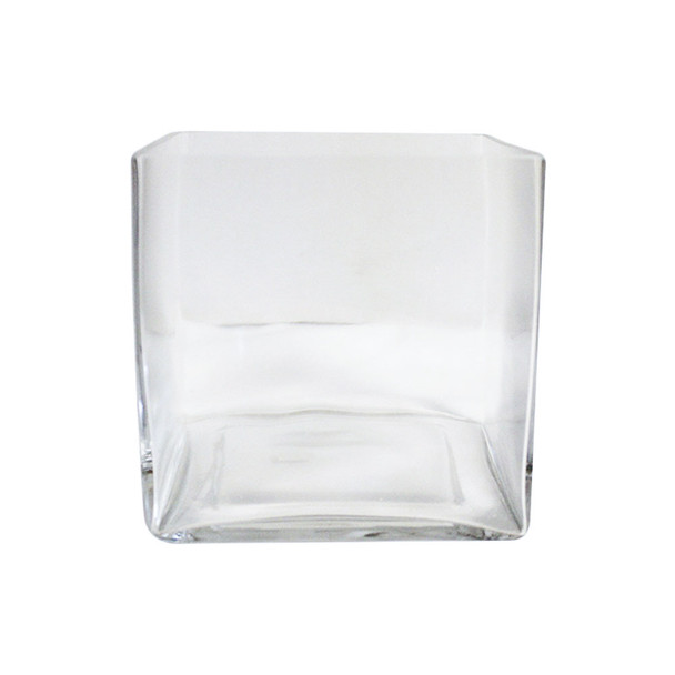 """6"""" Clear Glass Cube Vase"""