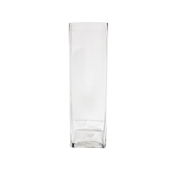 "19.5""H Glass Square Block Vase"