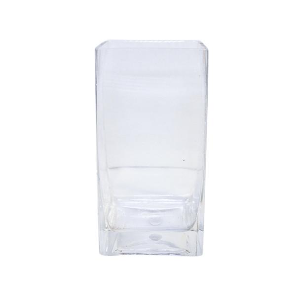 "8""H  Glass Square Block Vase"