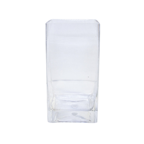 "8""H  Glass Square Block Vase"