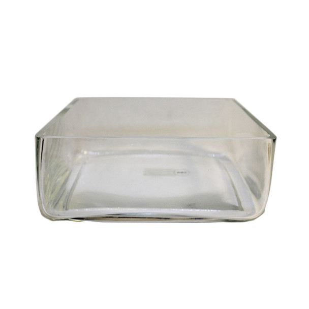 "10"" x  4""H Glass Square Vase"