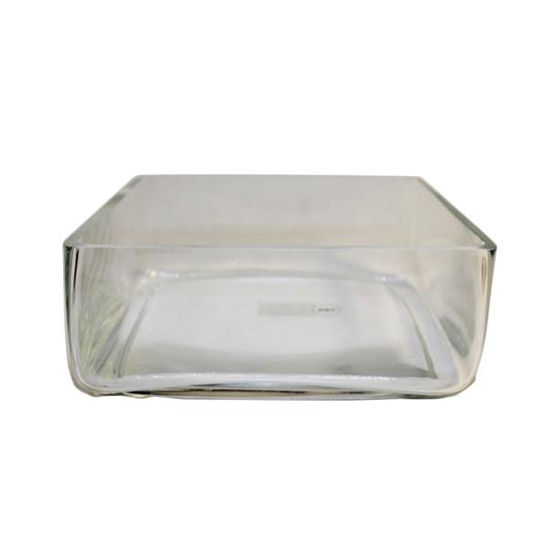"""10"""" x  4""""H Glass Square Vase"""