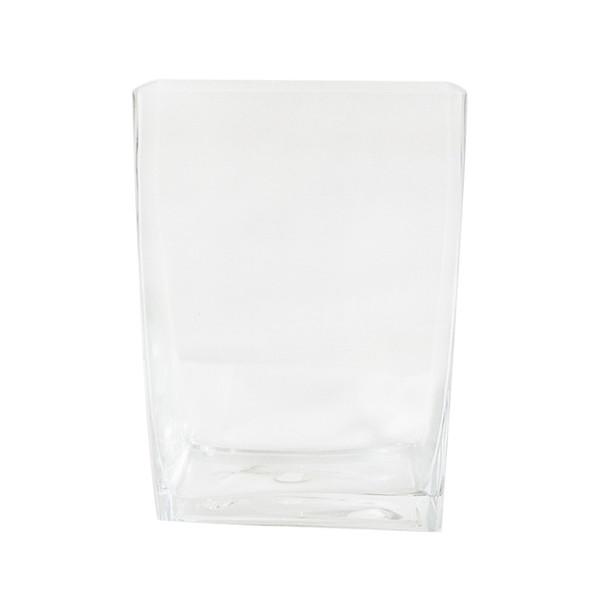 """12"""" Rectangular Glass Vase"""